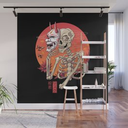 Hannya Spirit Mask Wall Mural