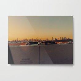 NYC SKYLINE GOLDEN HOUR Metal Print