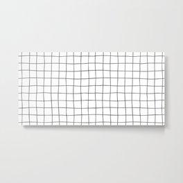 Black Grid V3 Metal Print