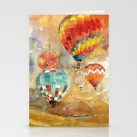 takmaj Stationery Cards featuring Balloons by takmaj