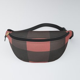 Distressed Buffalo Plaid (RED) Fanny Pack