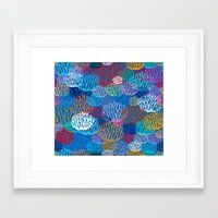 coral Framed Art Prints featuring Coral by Helene Michau