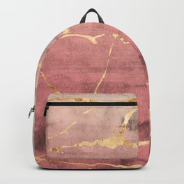 Watercolor Gradient Gold Foil II Backpack