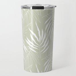 Ash Tree Leaves Scandinavian Pattern Travel Mug