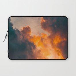 Beautiful Orange Whimsical Clouds Cotton Candy Texture Sky Cloud Photo Renaissance Painting Laptop Sleeve