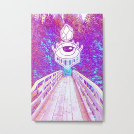 Psych Forest Adventure Metal Print