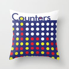 Connect 4. Throw Pillow