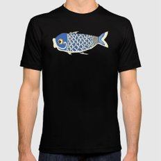 Koi Blue MEDIUM Black Mens Fitted Tee