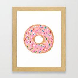 Pink Glaze Doughnut Framed Art Print