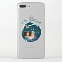 Magic grandma Clear iPhone Case