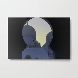 Sheikh Zayed Mosque Metal Print
