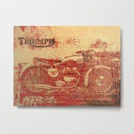 Triumph - Vintage Motorcycle Metal Print