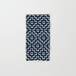Blue Geometric Pattern Hand & Bath Towel