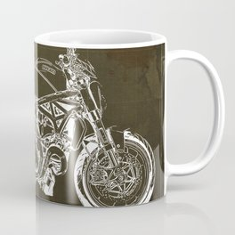01 - 2019 Ducat Monster 1200 25° Anniversario blueprint Coffee Mug