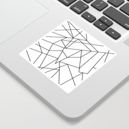 Simple Modern Black and White Geometric Pattern Sticker