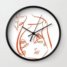 Orange Girl ©SABET Wall Clock