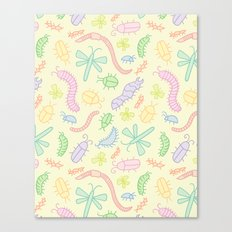 Pastel Bugs Canvas Print