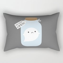 Trapped Little Ghost Rectangular Pillow