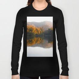Autumn landscape on the lake. Long Sleeve T-shirt