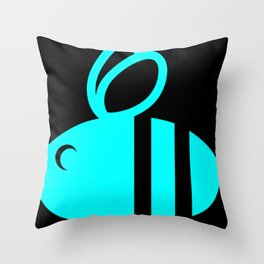 HUMBL BEE RED Throw Pillow