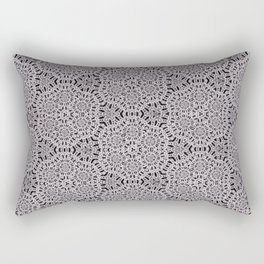 Grey Lace Coin Vintage Inspired Design Rectangular Pillow