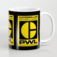 ripley Mugs featuring Weyland/Cat PowerLoader by IIIIHiveIIII