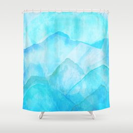Flooded Blues Shower Curtain