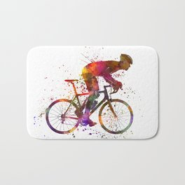 cyclist road bicycle Bath Mat