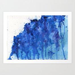 Splatter Blue Art Print