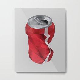 Crushed Cola Can Metal Print