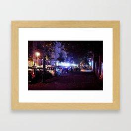 Berlin's street Framed Art Print
