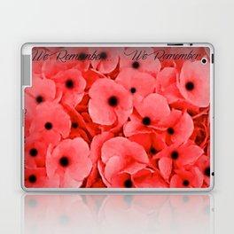 Veterans | Memorial Day | Remembrance Day | We Remember | Red Poppies | Nadia Bonello Laptop & iPad Skin