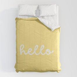 HELLO YELLOW Comforters