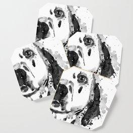 Black And White Half Faced Dalmatian Dog Coaster