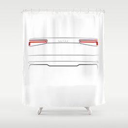 A3 8V 2016 Back White Shower Curtain