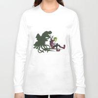 teen titans Long Sleeve T-shirts featuring Teen Titans: Beast Boy by JaDis