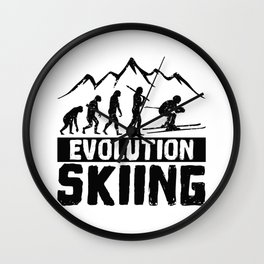 Evolution Skiing Wall Clock