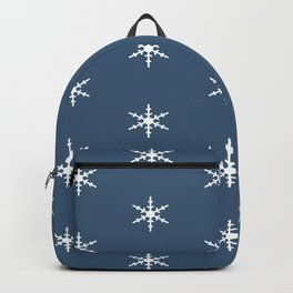 Falling Snow Flakes in the Night Sky Backpack