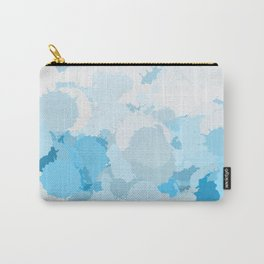 Blue watercolor abstract splatter Carry-All Pouch
