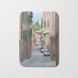 Walkway on in old town in Europe Bath Mat