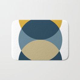 Rise of the Sun - Yellow, Blue, Geometric Art Bath Mat