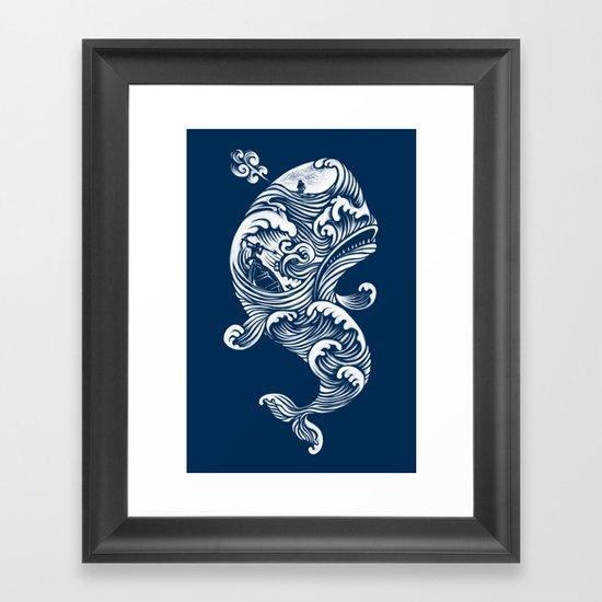 The White Whale  Framed Art Print