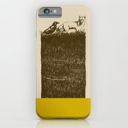 The Fox and The Crow iPhone Case
