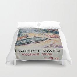 24hs Le Mans, 1954 vintage poster Duvet Cover