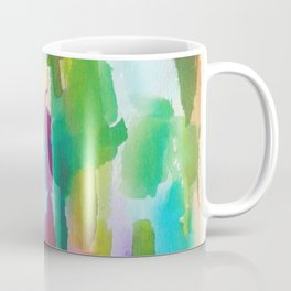 180812 Abstract Watercolour Expressionism 2 | Colorful Abstract | Modern Watercolor Art Coffee Mug