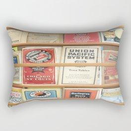 American Rail Brochures, Steamship Lines & More! Rectangular Pillow