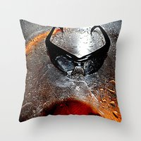 glasses Throw Pillows featuring glasses by  Agostino Lo Coco