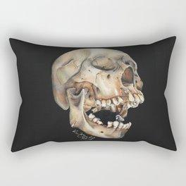 Open Mouth Skull Rectangular Pillow
