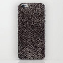 Abstract vintage gray brown black geometrical pattern iPhone Skin