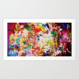 10 Hit Rainbow Art Print
